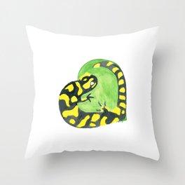 Salamander Heart Throw Pillow