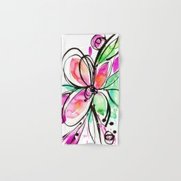 Ecstasy Bloom No. 1 by Kathy Morton Stanion Hand & Bath Towel