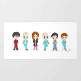 MiniPolseres 1a temporada Art Print