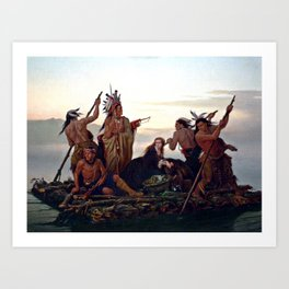The Abduction of Boone's Daughter by the Indians Art Print
