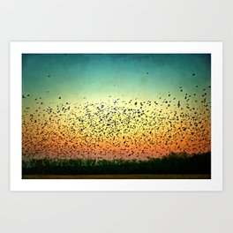 a scene from the birds Art Print