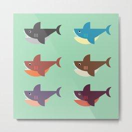 Snarky Sharky Metal Print