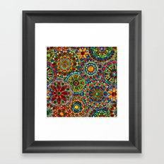 Cheerful Circles Framed Art Print