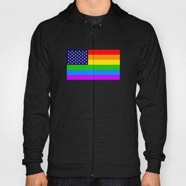 Gay USA Rainbow Flag - American LGBT Stars and Stripes Hoody