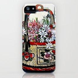 """Basket of Flannel Flowers"" by Margaret Preston iPhone Case"