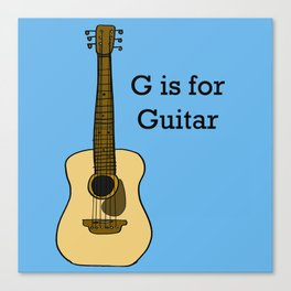 G is for Guitar Canvas Print