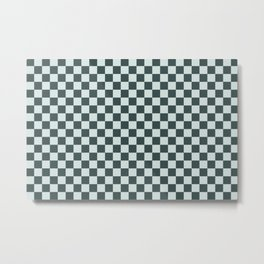 Checkerboard Pattern Inspired By Night Watch PPG1145-7 & Cave Pearl PPG1145-3 Metal Print