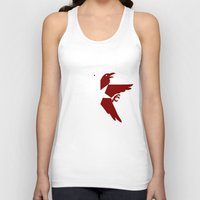 infamous Tank Tops featuring Infamous: Second Son - Jacket Bird Logo (Solid) by Dsavage94