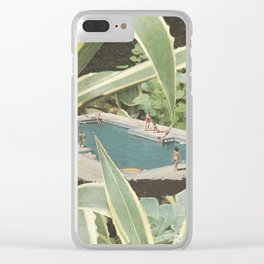 Swimming pool fun Clear iPhone Case