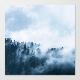 The Wilderness, Foggy Forest Canvas Print