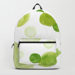 Abstract Green Watrcolor Circes Backpack
