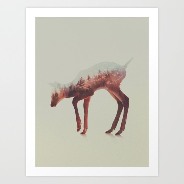 Discover the motif NORWEGIAN WOODS: THE DEER by Andreas Lie as a print at TOPPOSTER