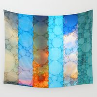 blues Wall Tapestries featuring Blues by Olivia Joy StClaire
