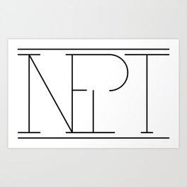 Inept Logo Art Print