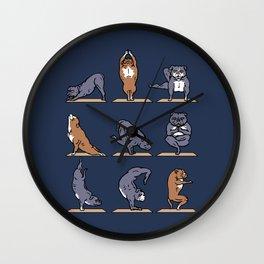 American Pit Bull Terrier Yoga Wall Clock
