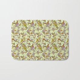 painted floral Bath Mat