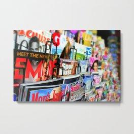 Magazine Stand Metal Print