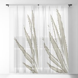 Abstract cactus Sheer Curtain