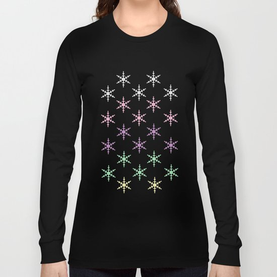 colorful snow pattern Long Sleeve T-shirt