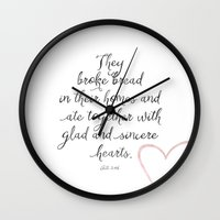 scripture Wall Clocks featuring Scripture by Meredith Washburn