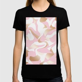 Elegant gold abstract pattern T-shirt