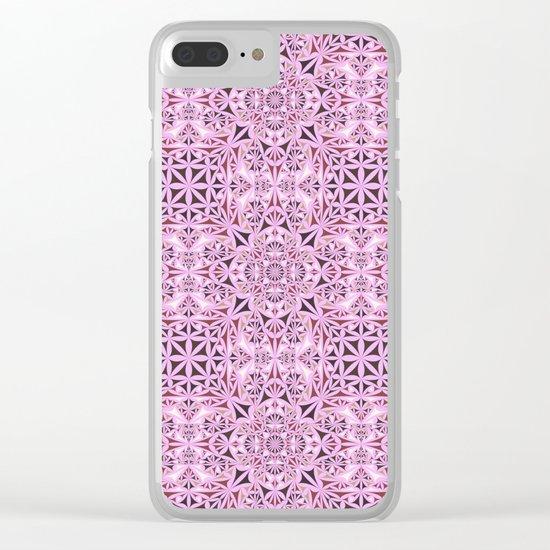 Pink kaleidoscope wallpaper Clear iPhone Case