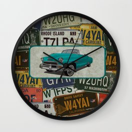 License Please Wall Clock