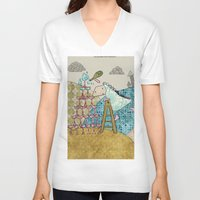 glass V-neck T-shirts featuring Glass by Loezelot