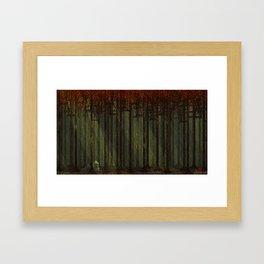 Autumn Forest - Pixel Art Framed Art Print