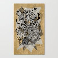 Life of Lines Canvas Print