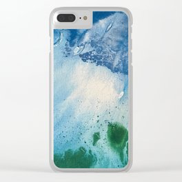 Environmental Blue and Green Painting # 7 Clear iPhone Case