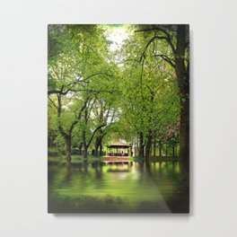 Forest Flood With Bandstand Metal Print