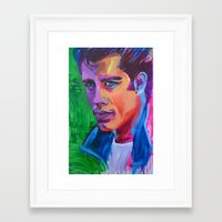 grease Framed Art Prints featuring Grease by Alejandro Castanon