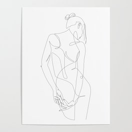 ligature - one line art Poster