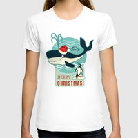 50s T-shirts featuring Where is Santa Claus? (background) by Chicca Besso