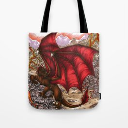 Volcano Dragon Tote Bag