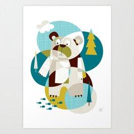 Bear Beware Art Print