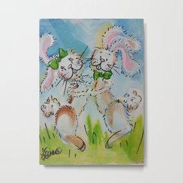 Bunny Hop Metal Print