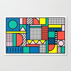 Memphis Color Block Canvas Print