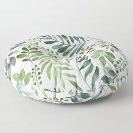 Botanical leaves -Watercolor   Floor Pillow