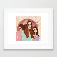 lana Framed Art Prints featuring Lana by Clementine Petrova