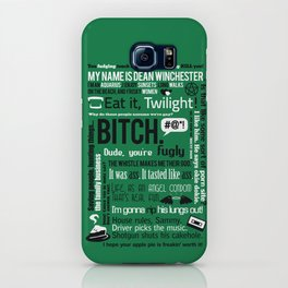 Supernatural - Dean Winchester Quotes iPhone Case