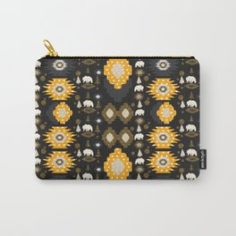 Ethnic winter pattern with little bears Carry-All Pouch
