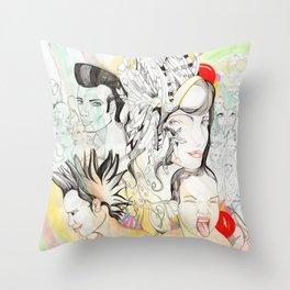 Crazy Family Throw Pillow