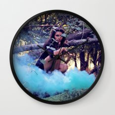 From the majesty she rises Wall Clock