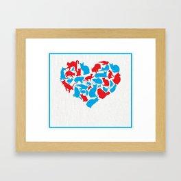 Heart of Kats Framed Art Print