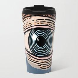Engraved Eye Study in Color Travel Mug