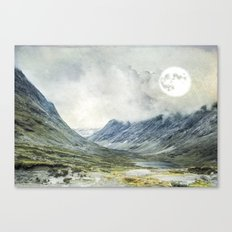 Supermoon in Norway Canvas Print