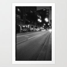 White bulbs Art Print