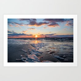 Sunset | The Point at Cape Henlopen State Park - Lewes, Delaware Art Print